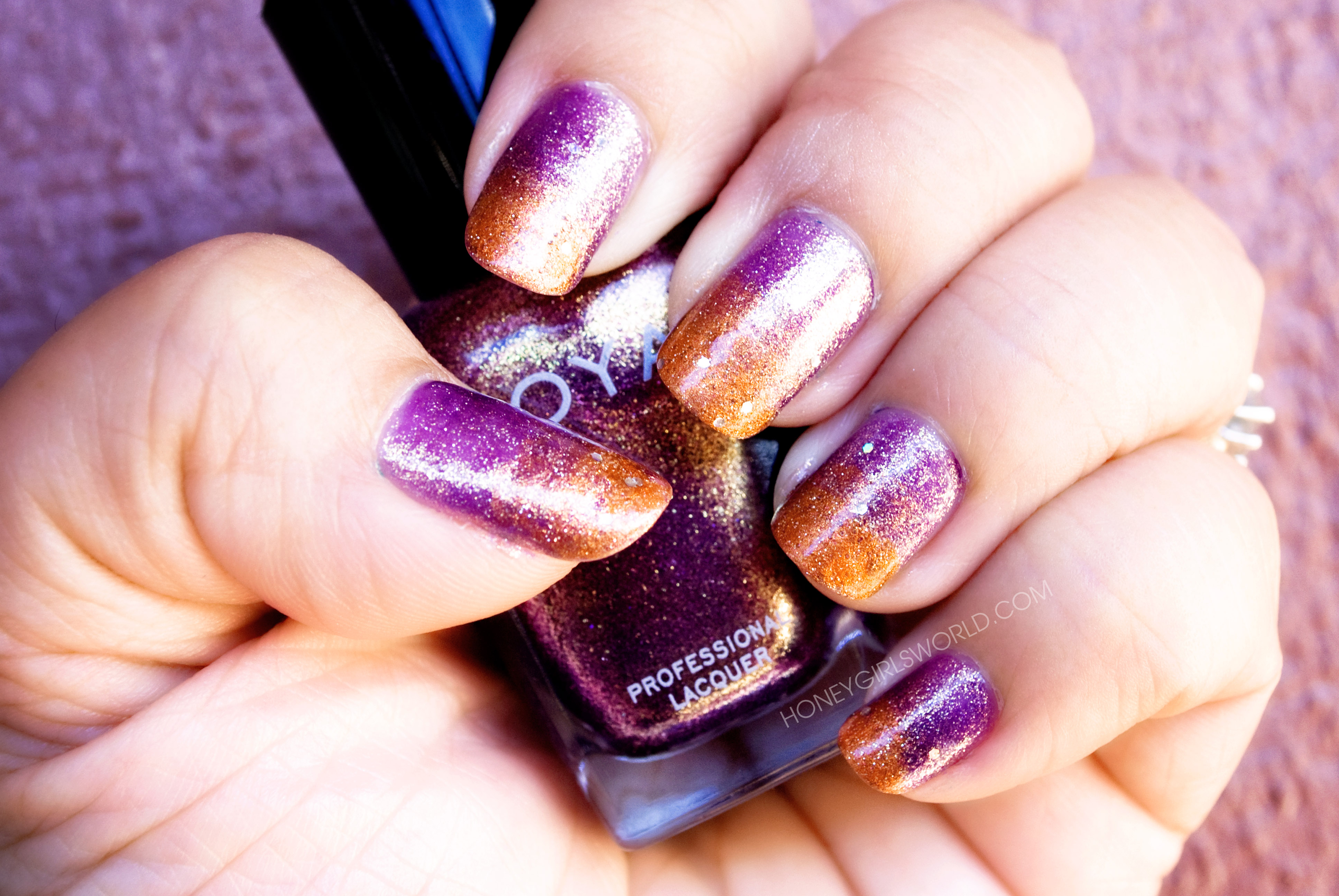 Easy Gradient nails for fall