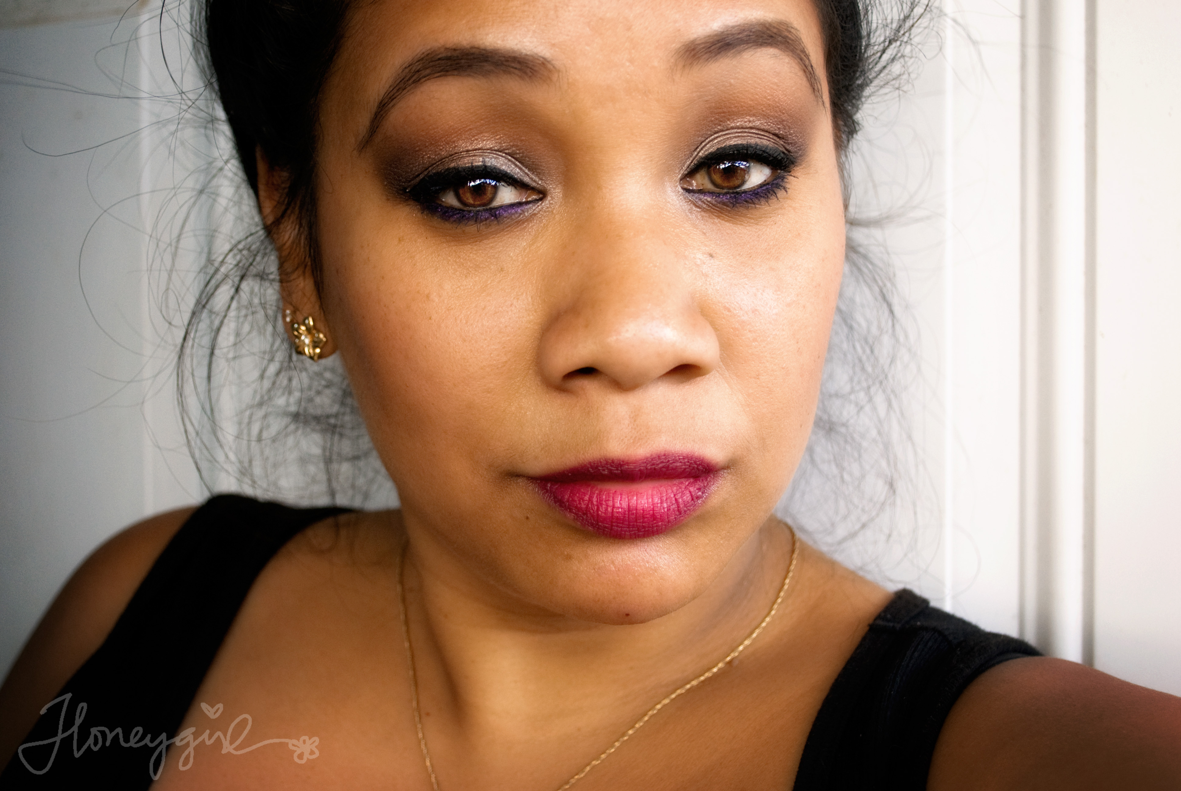 Pop of Purple – Fall Smoky Eyes and Berry Lips