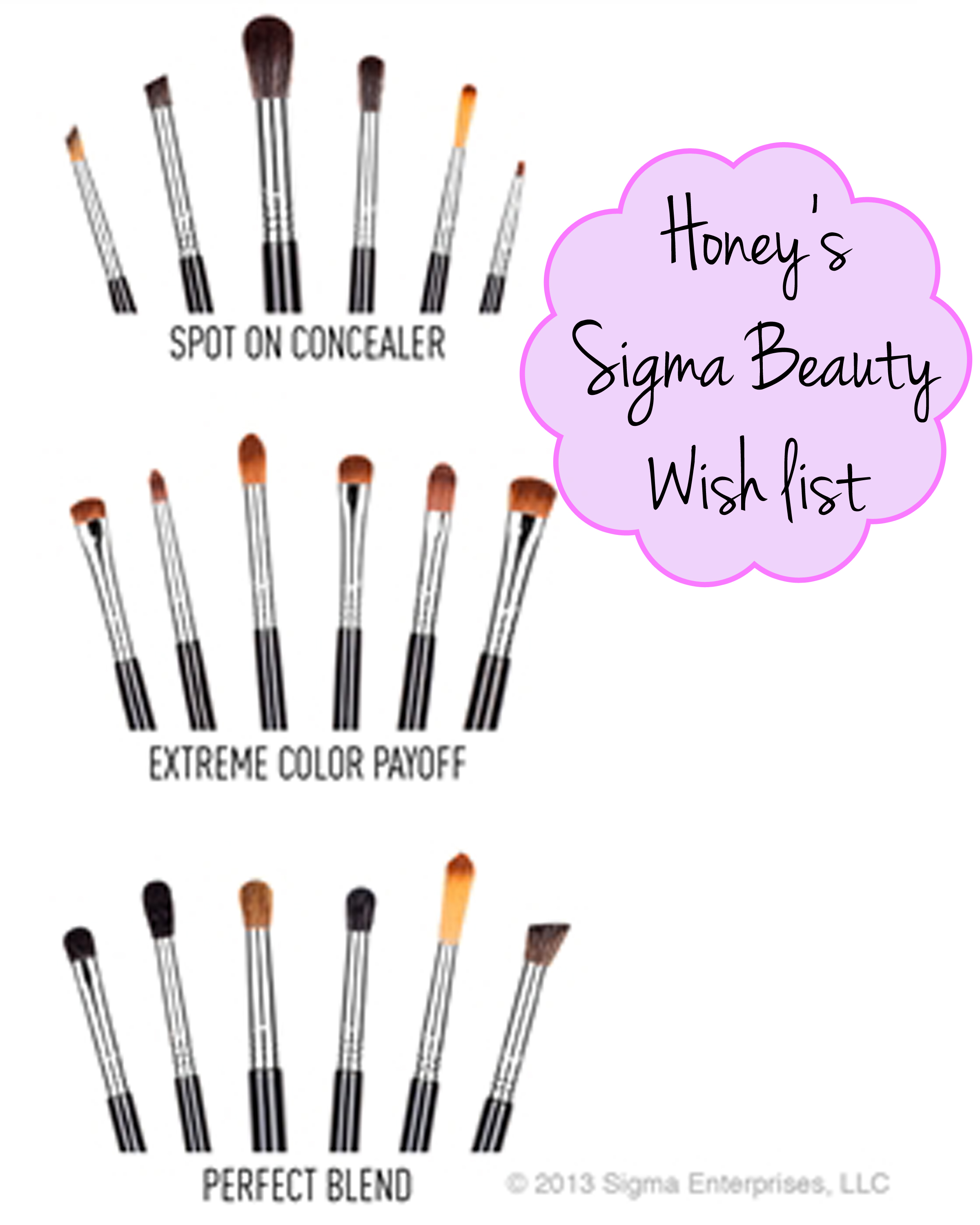 Honey's Sigma Beauty Holiday Gift Guide & Wish list