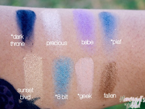Kat Von D Spellbinding Palette Swatches row 1 and 2
