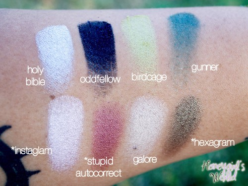 Kat Von D Spellbinding Palette Swatches rows 3 and 4