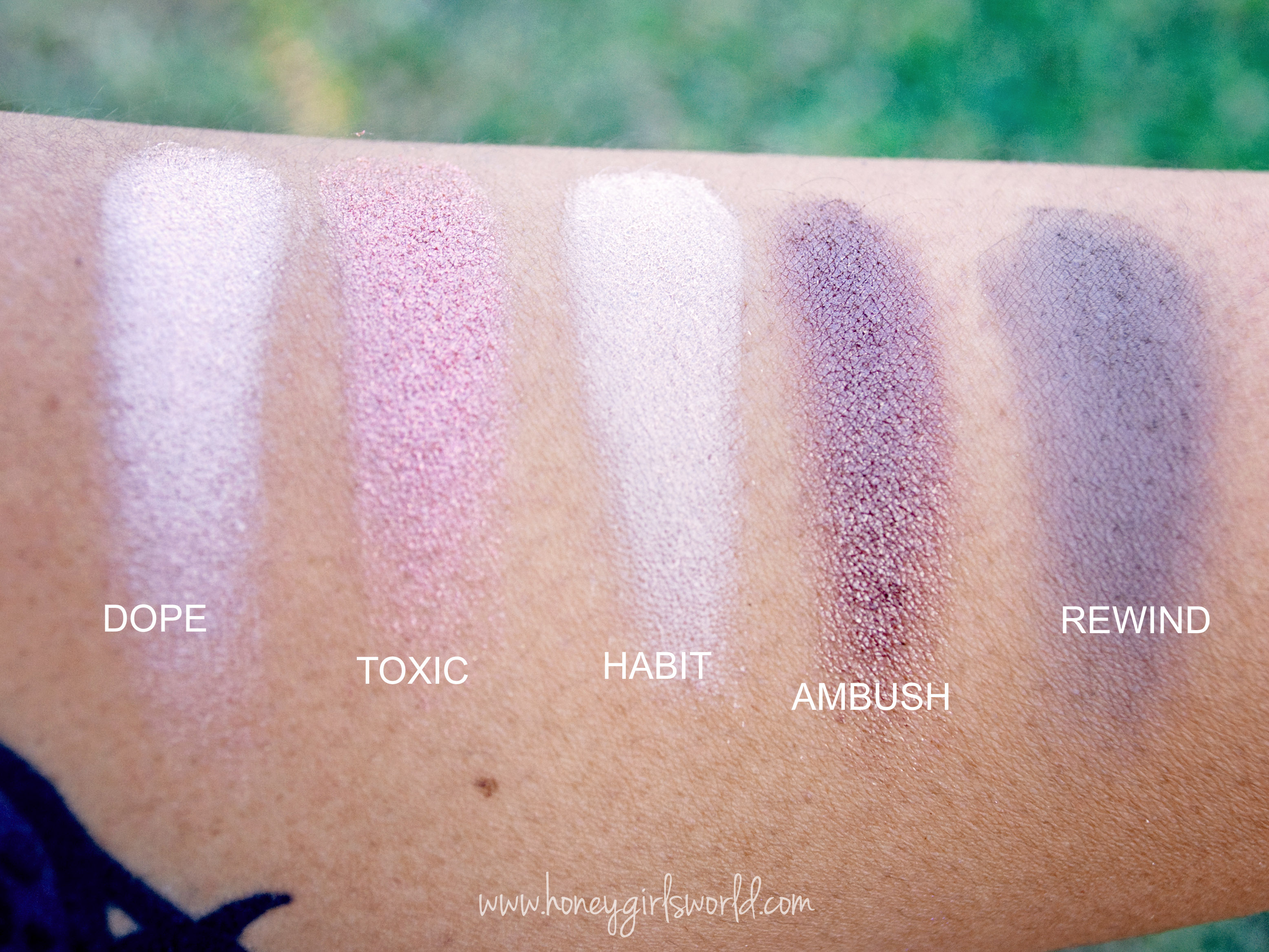 Urban Decay Vice 2 Palette Swatches - 4th row
