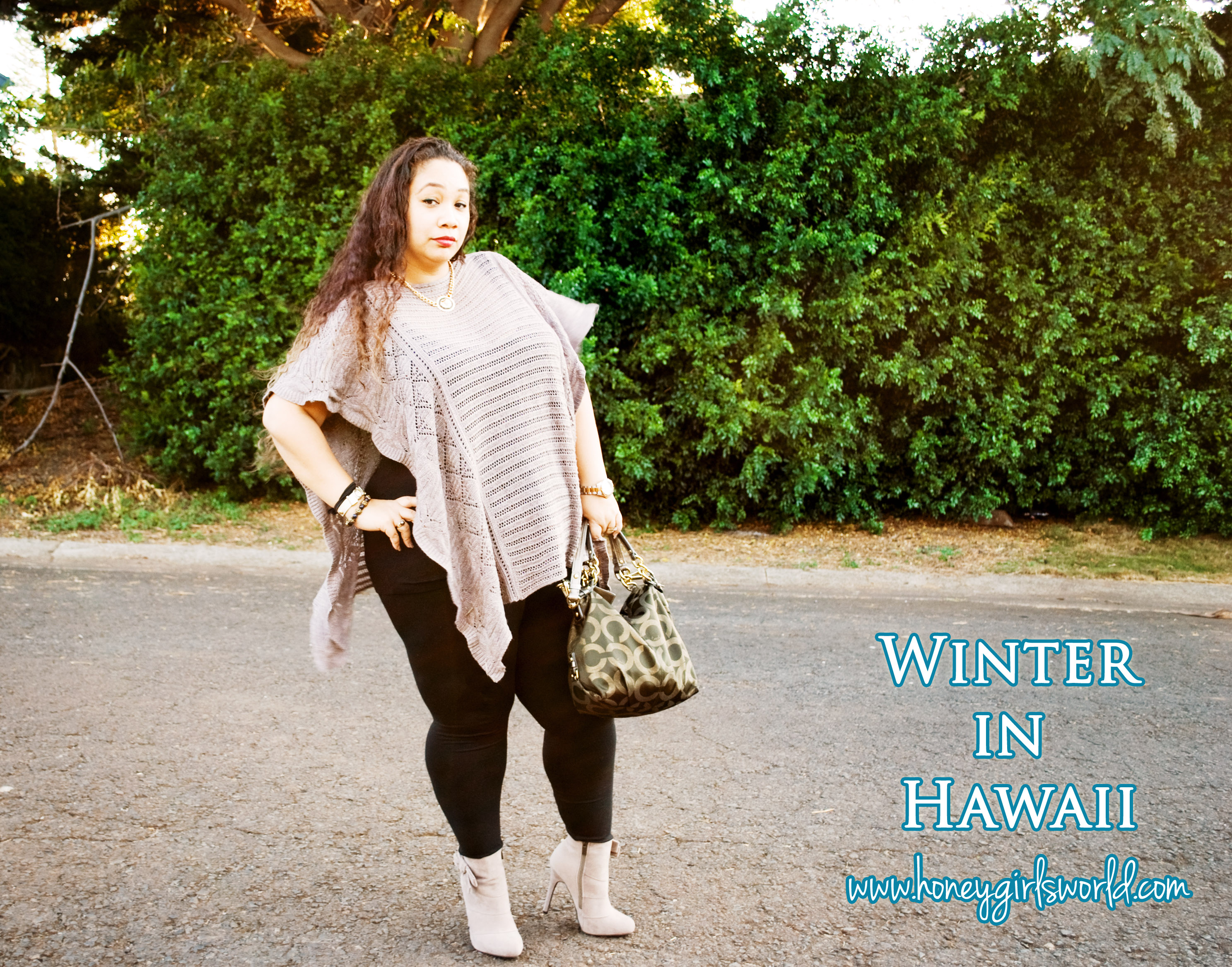 winter in hawaii plus sized outfit 2
