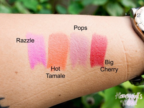 NYX Butter lipsticks swatches