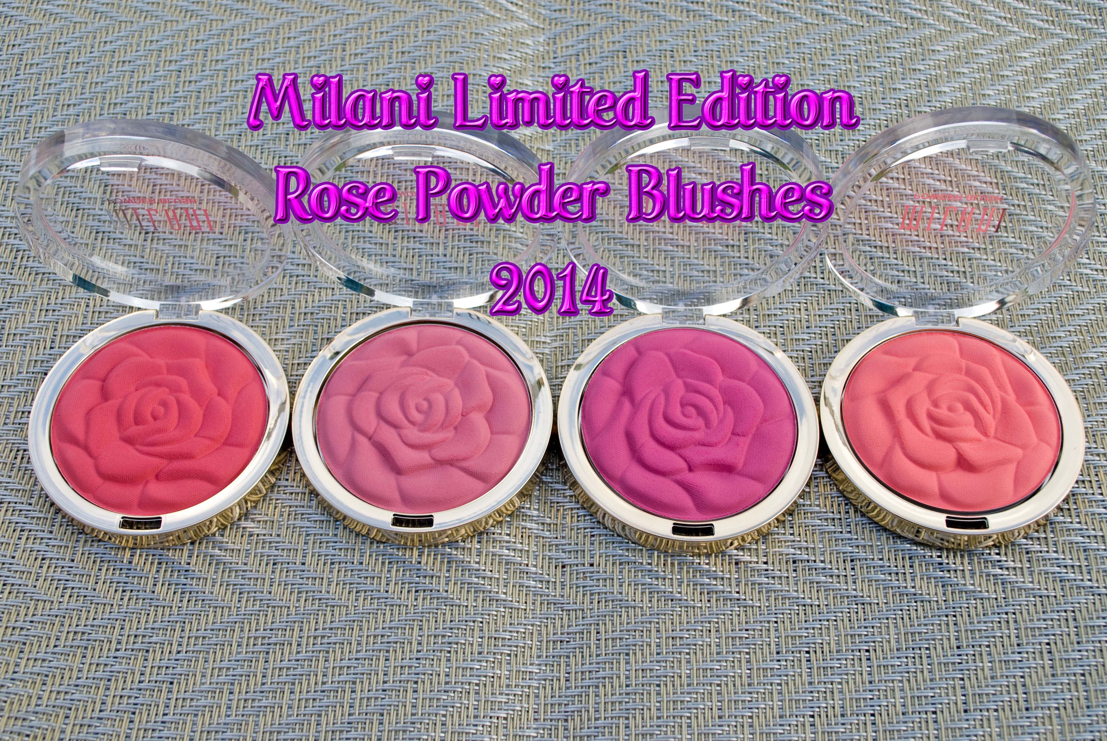 Milani Rose Powder Blushes 2014