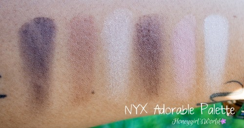 NYX Adorable Palette Swatches