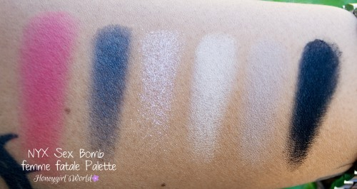 NYX Sex Bomb Palette Swatches