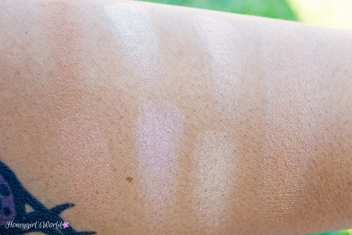 NYX Sunkissed Radiant Finishing Powder Swatches