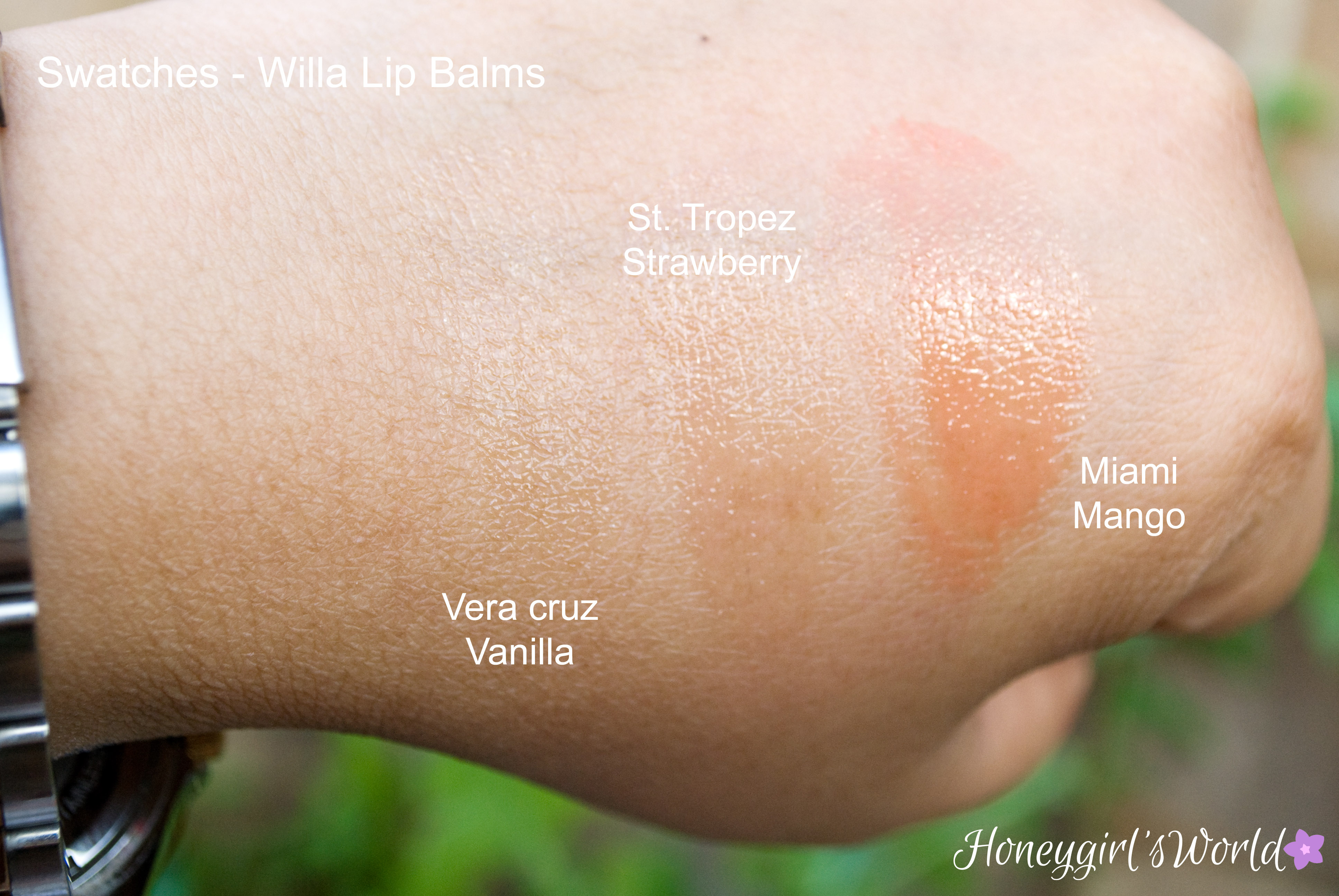 Willa Lip Balms Swatches