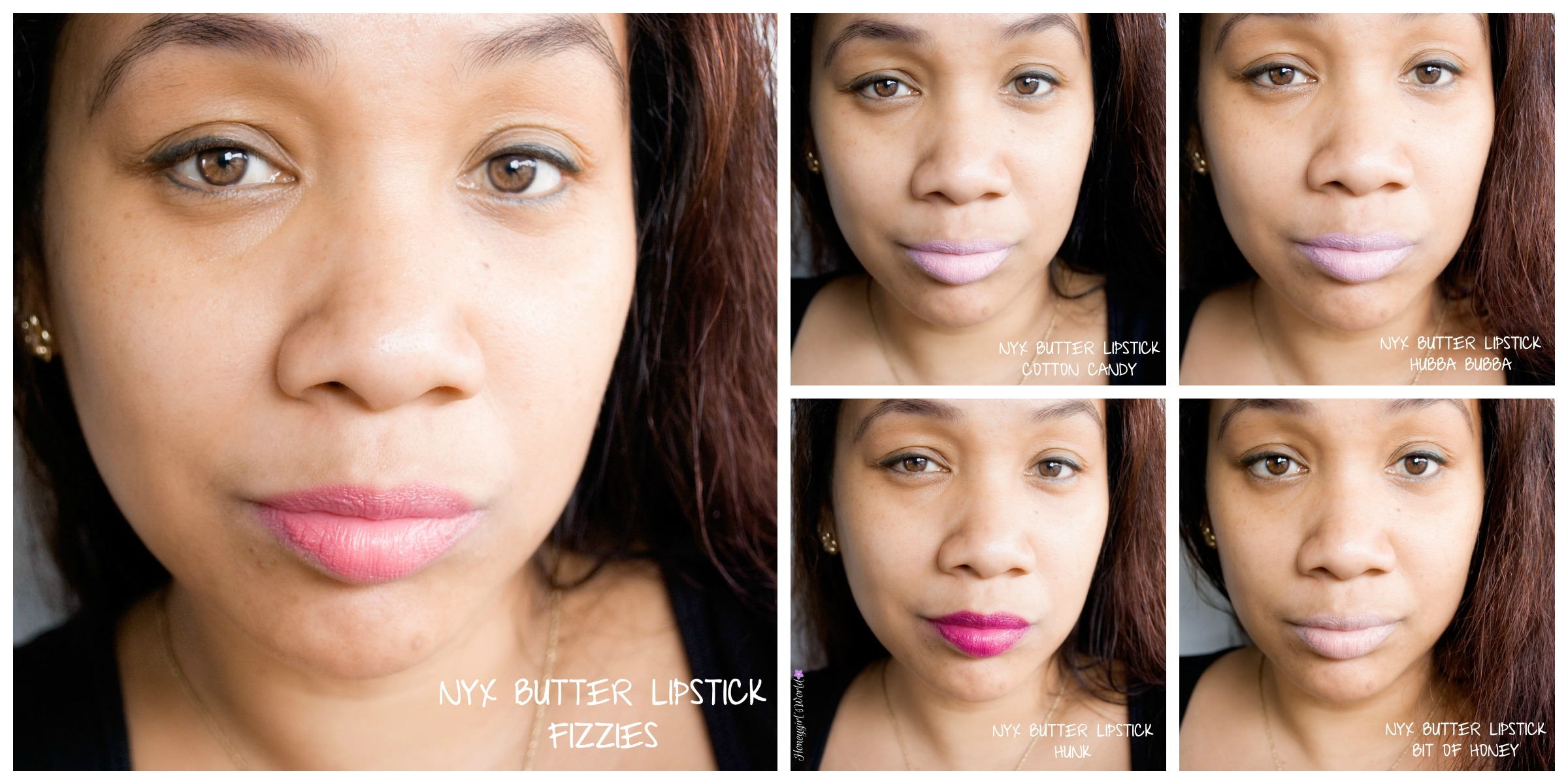 NYX Butter Lipstick Swatches