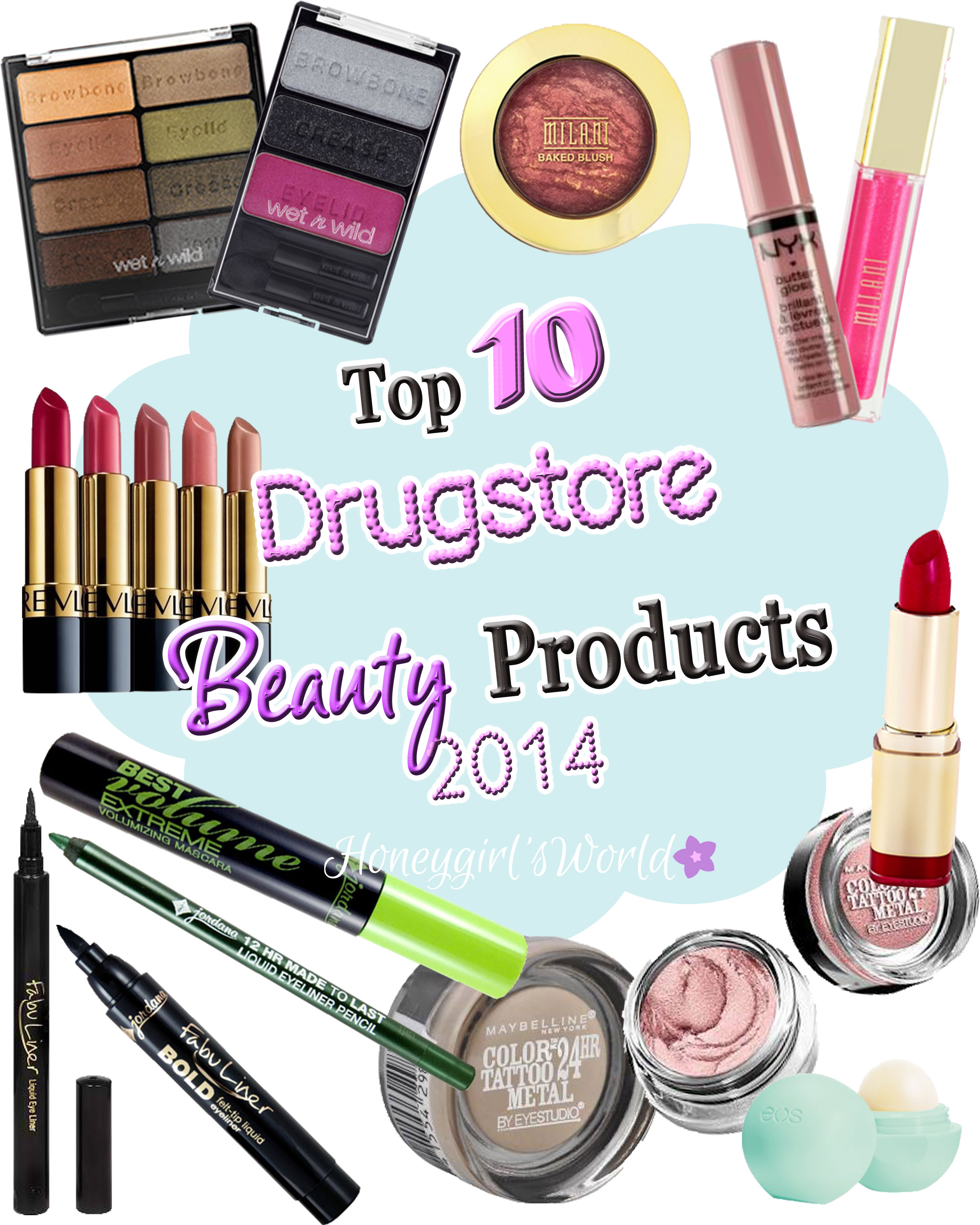 Top 10 Drugstore Beauty Products 2014
