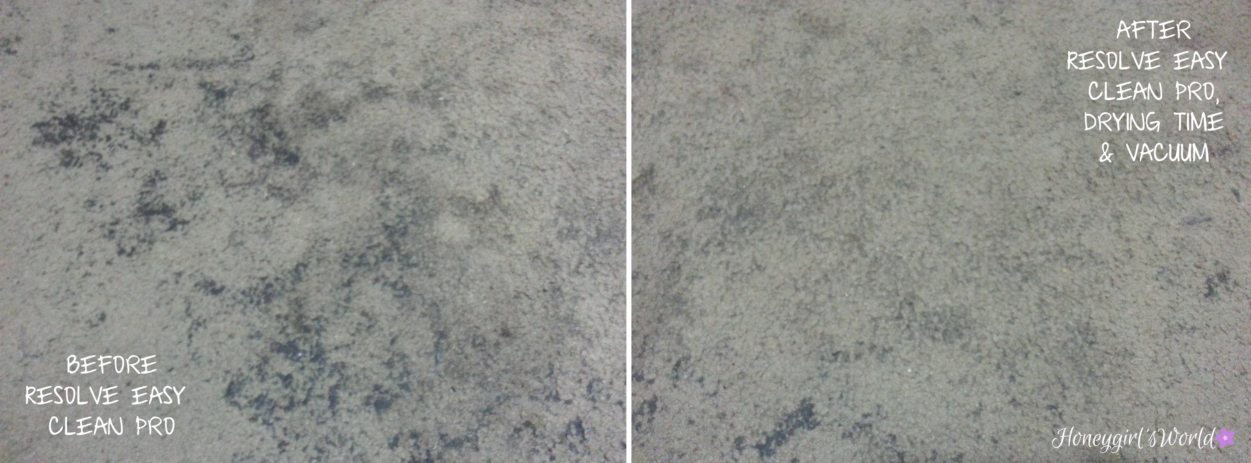 resolve carpet cleaner before and after