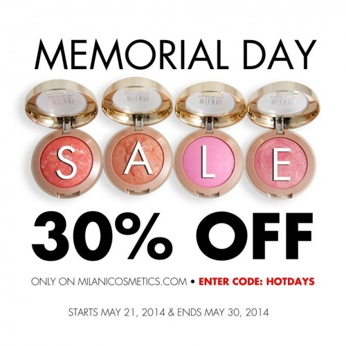 Milani 30% off discount