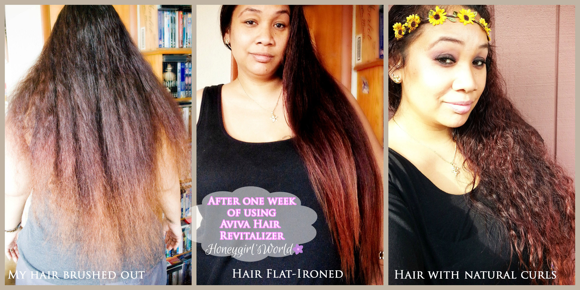 After one week of using Aviva Hair Revitalizer