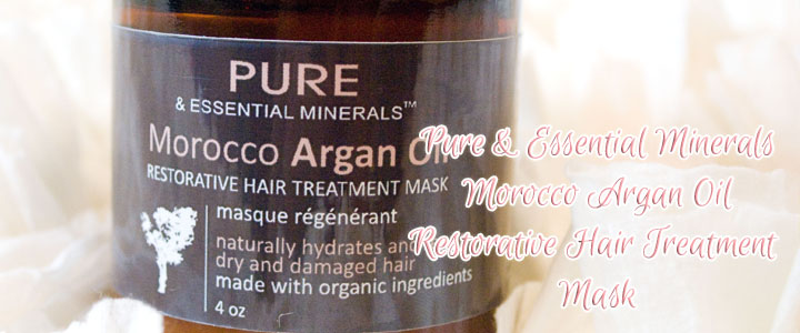 Pure and Essential Minerals Morocco Argan Oil Restorative Hair Treatment Mask