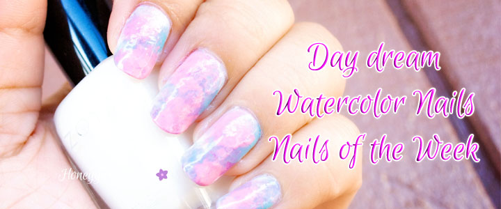 day dream watercolor nails