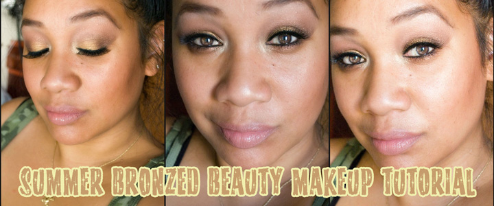 summer bronzed makeup tutorial thumbnail