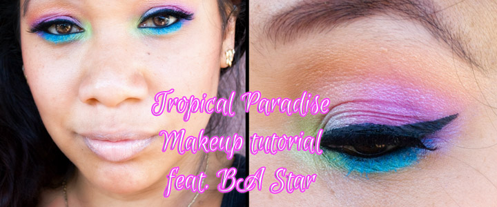 Tropical Paradise Makeup Tutorial – Rainbow Eye shadow feat. BA Star & BH Cosmetics