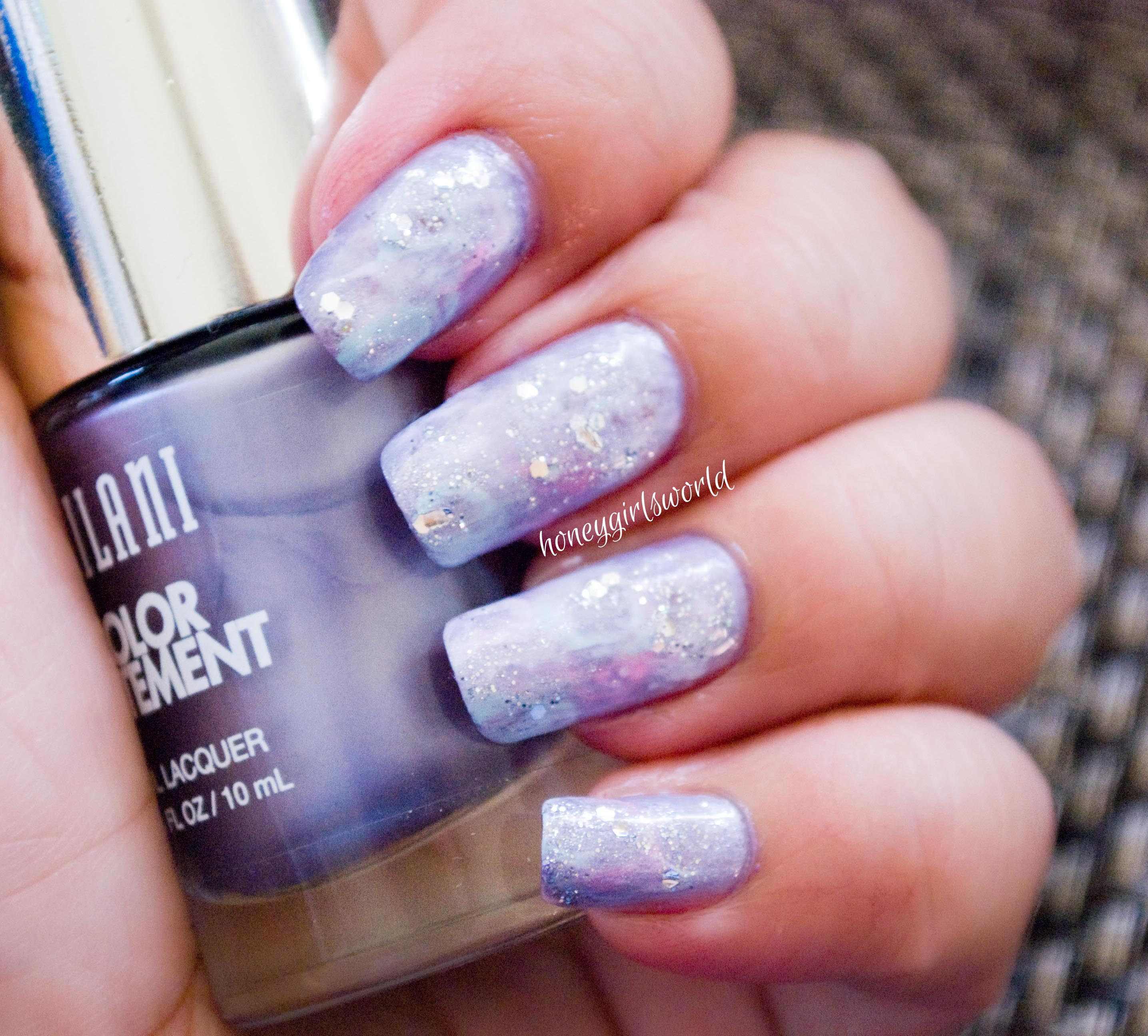 Galaxy Inspired Nails (Water Color look) - Tutorial - Honeygirl\'s ...