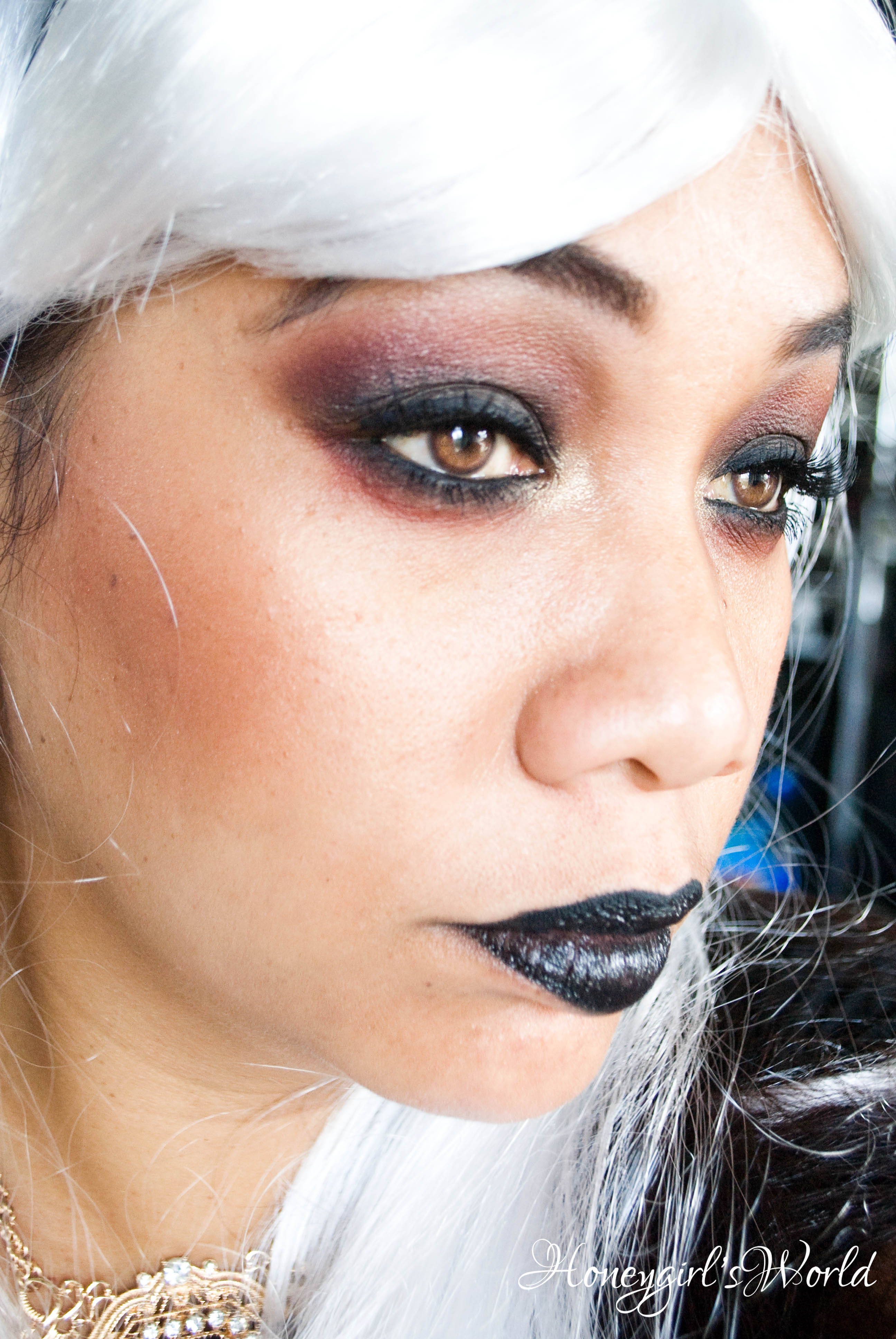 halloween makeup - dark gothic alice in wonderland - honeygirl's