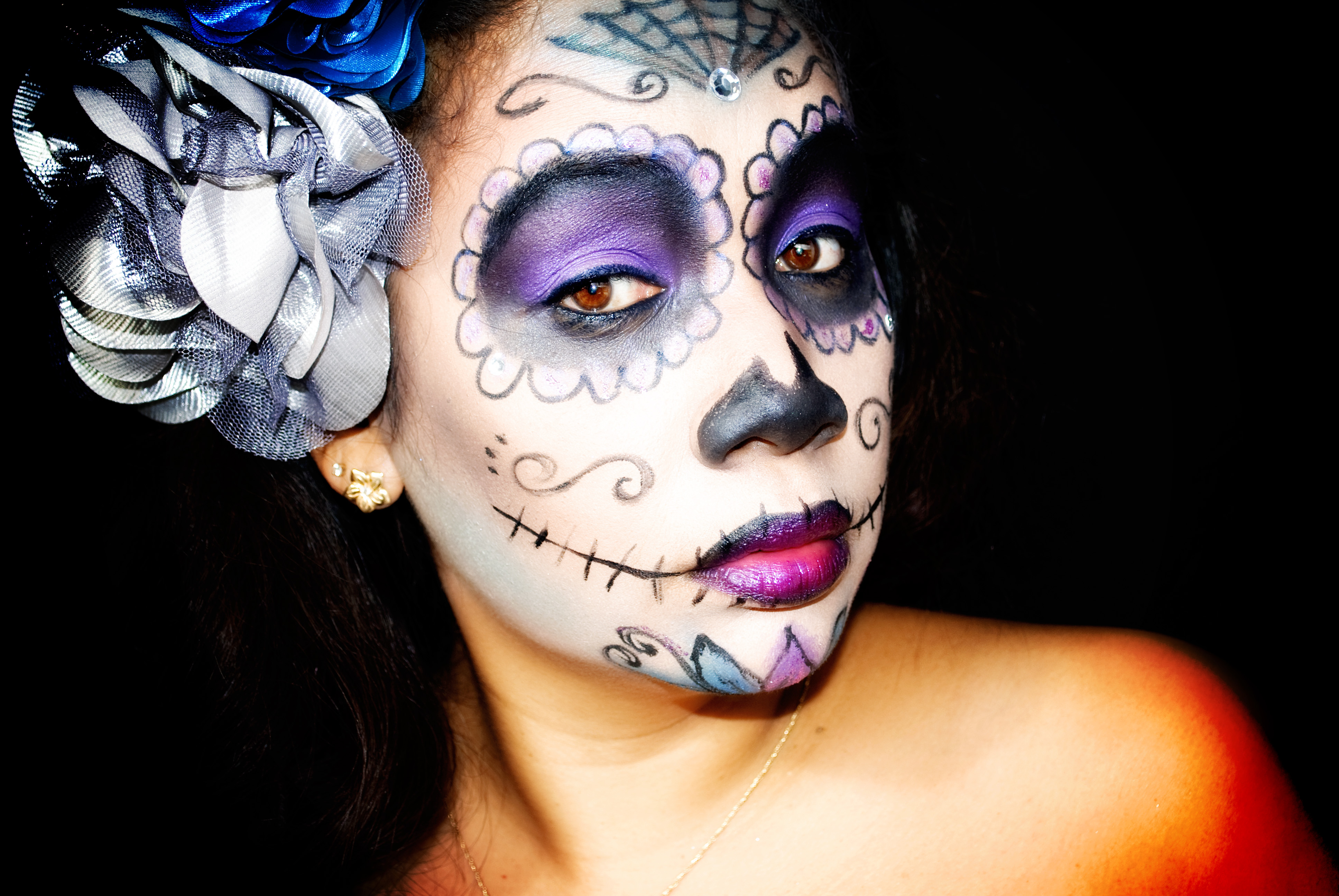 HALLOWEEN MAKEUP TUTORIAL: Sugar Skull Makeup