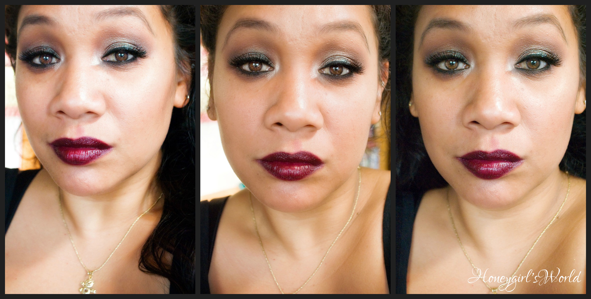 fall inspired makeup using MAC blue brown