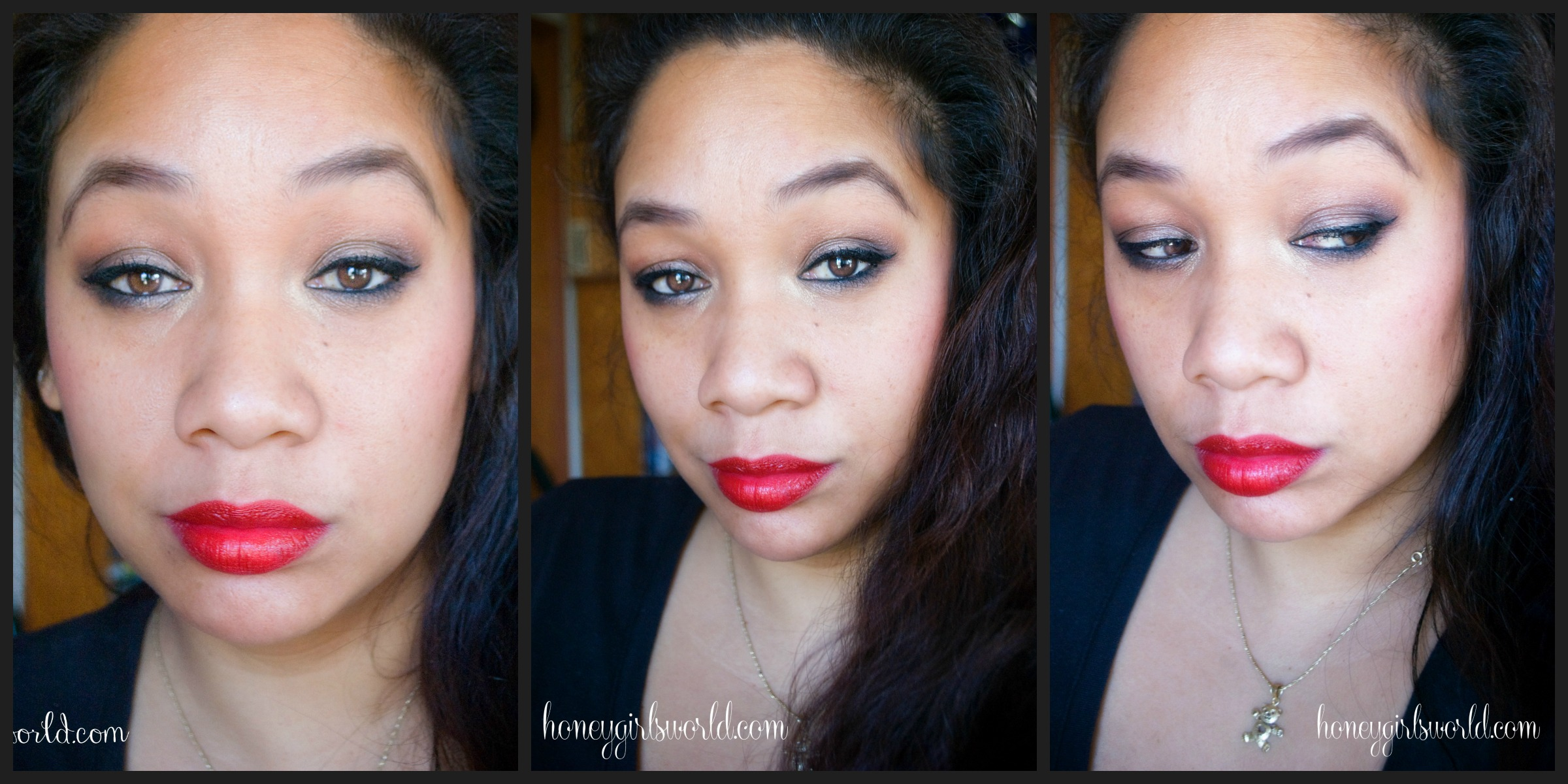 Easy Holiday Glam Makeup – Soft Eyes & Red Lips