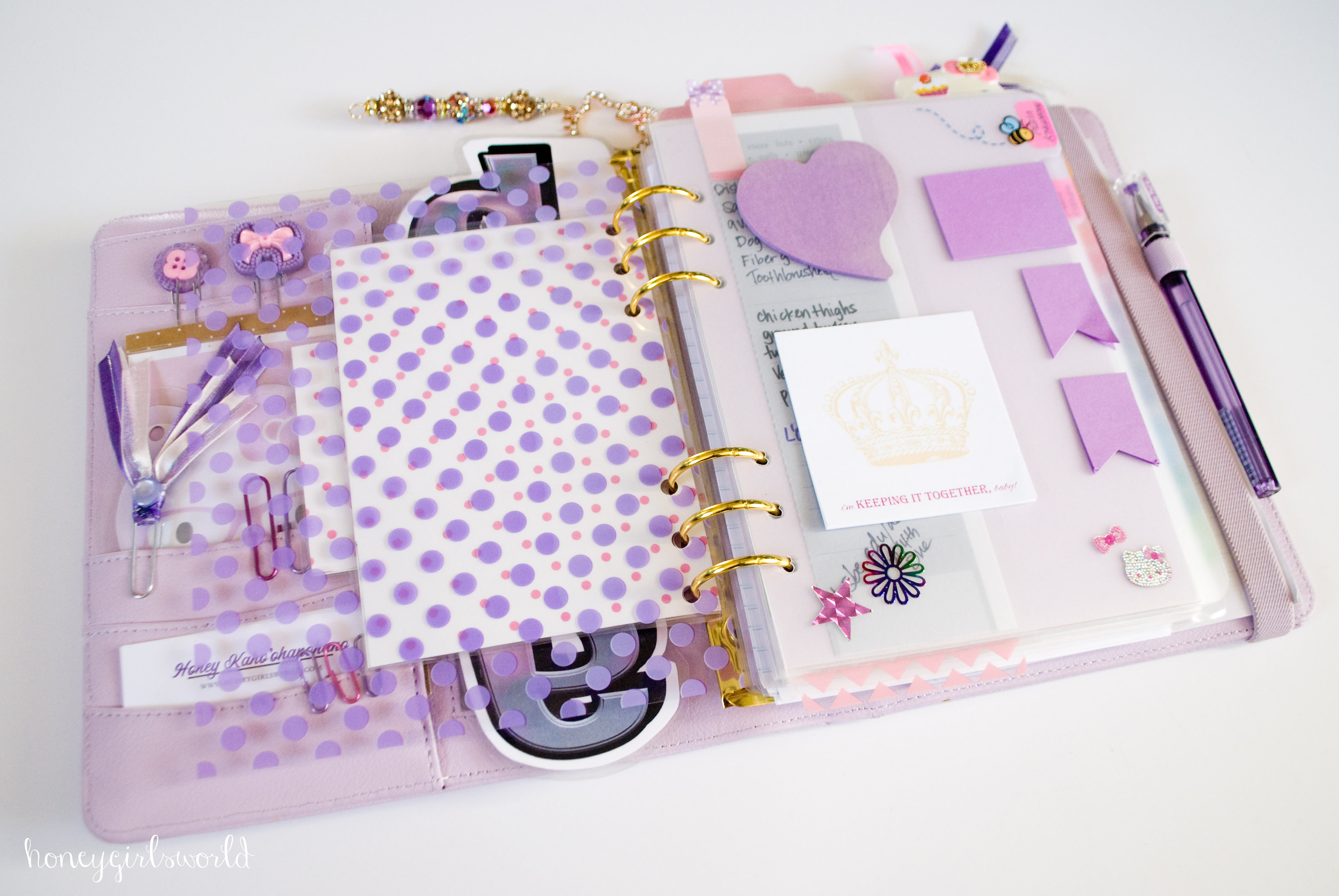 Super Inside My Perfect Planner - 2015 Kikki K Lilac Time Planner (2015  IN86