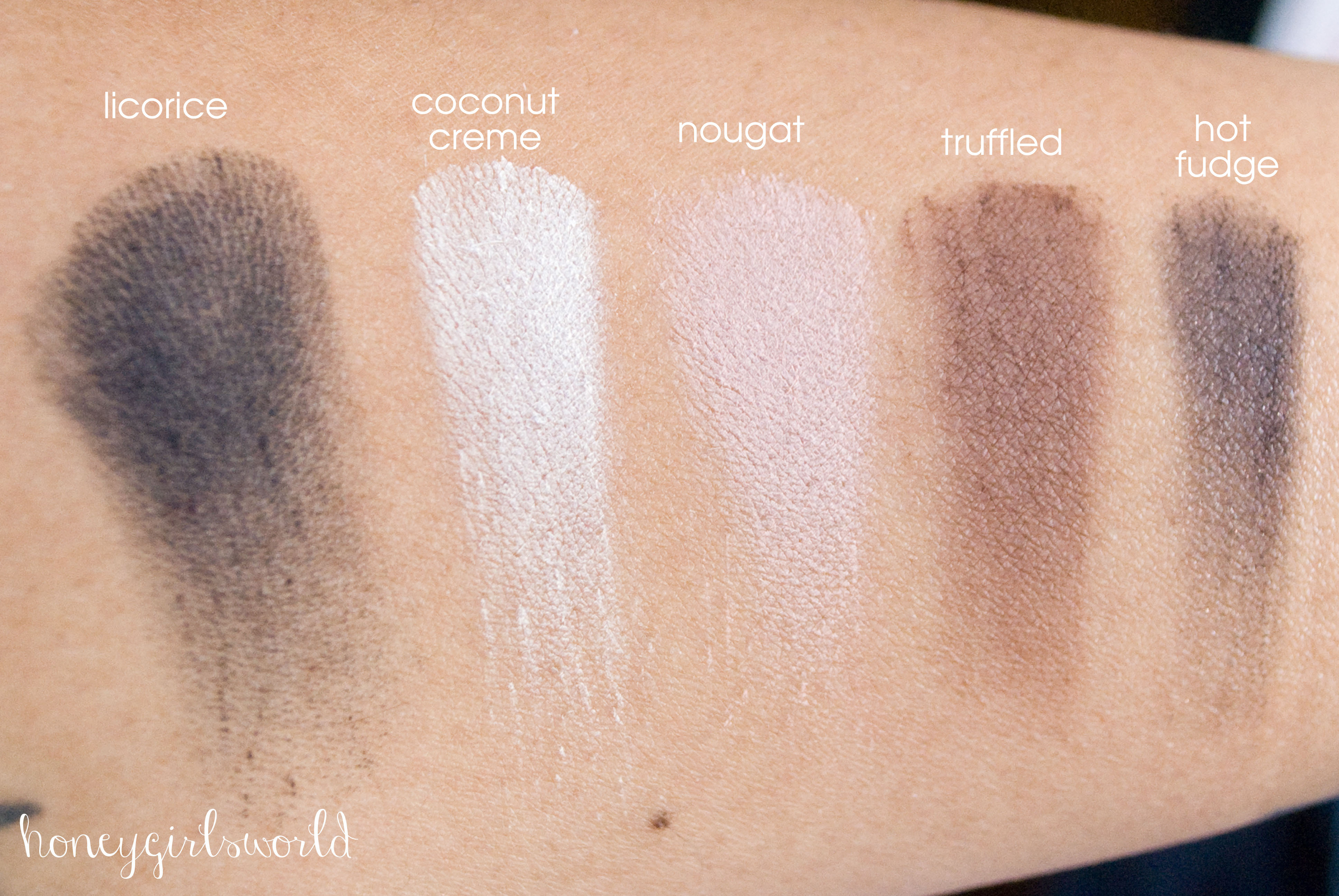 Too Faced Semi Sweet Chocolate Bar Palette Swatches