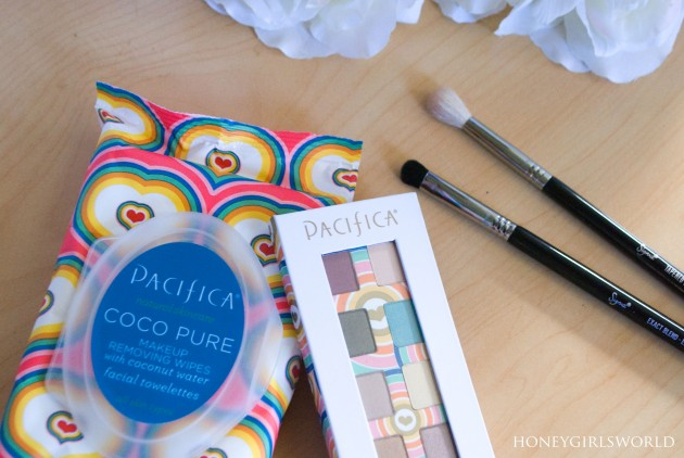 Pure Love - Pacifica Power of Love Eyeshadow Palette and Coco Pure Makeup Removing Wipes