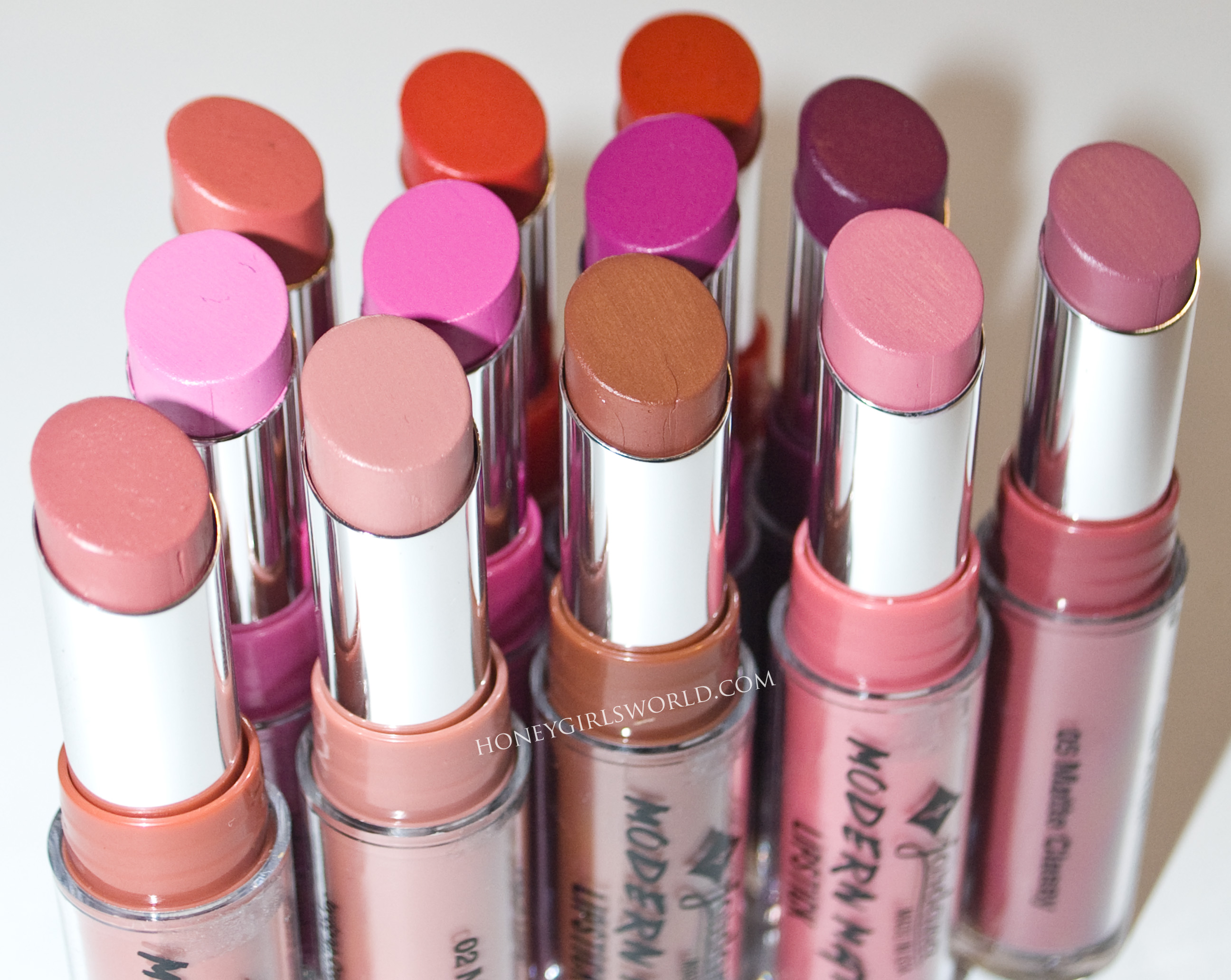 Jordana Modern Matte Lipstick Review and Swatches | Budget
