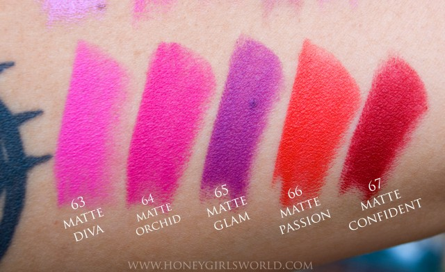 Milani Moisture Matte Color Statement Lipsticks Swatches