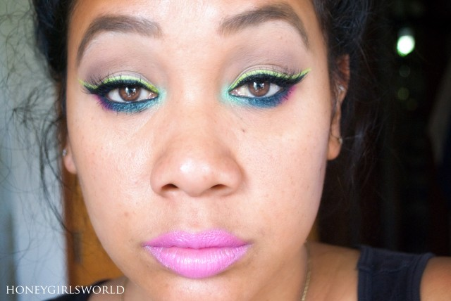 Electric Avenue spring makeup look
