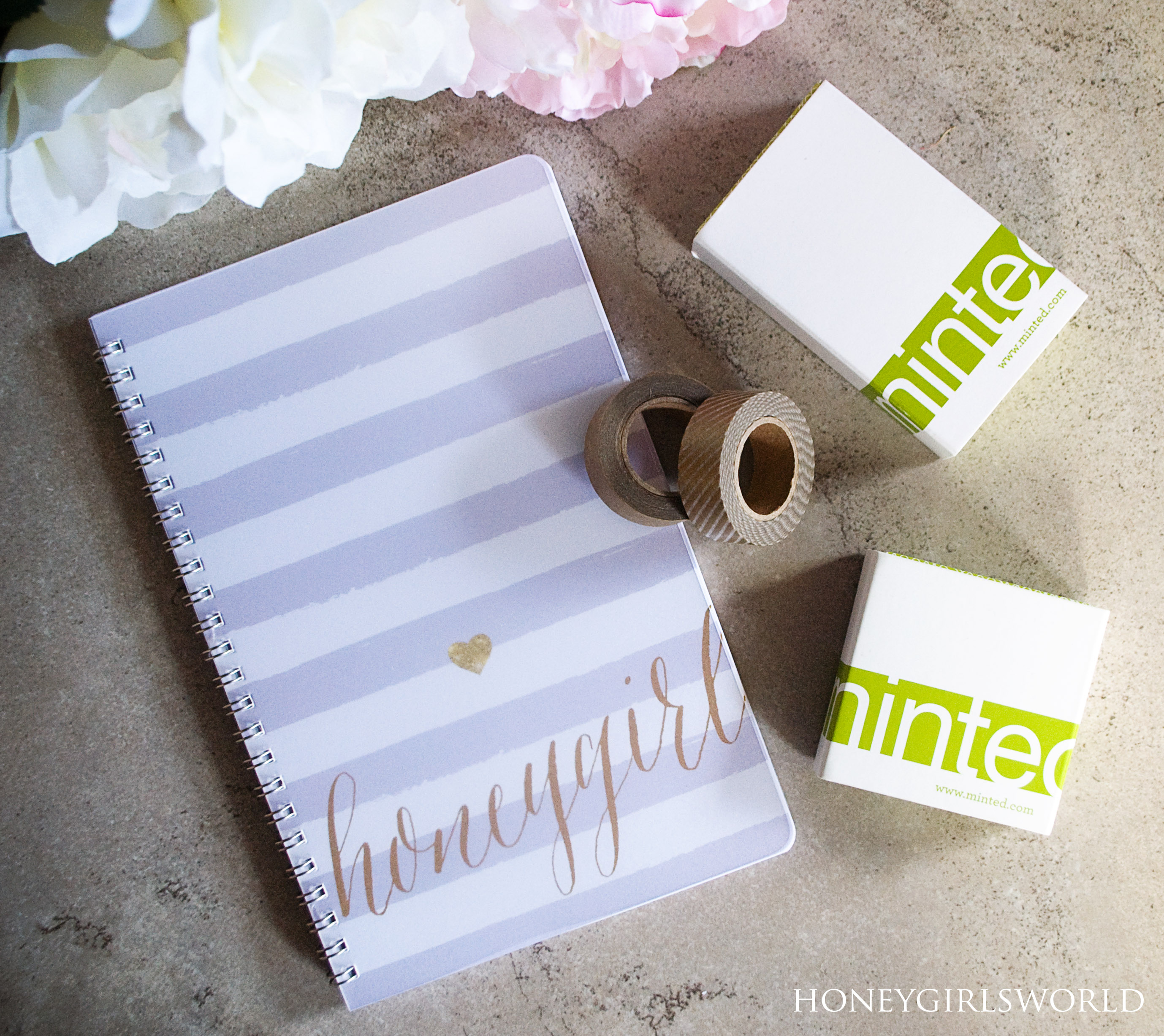 Minted.com Haul - Business Cards, Notebook and Washi - Honeygirl\'s ...