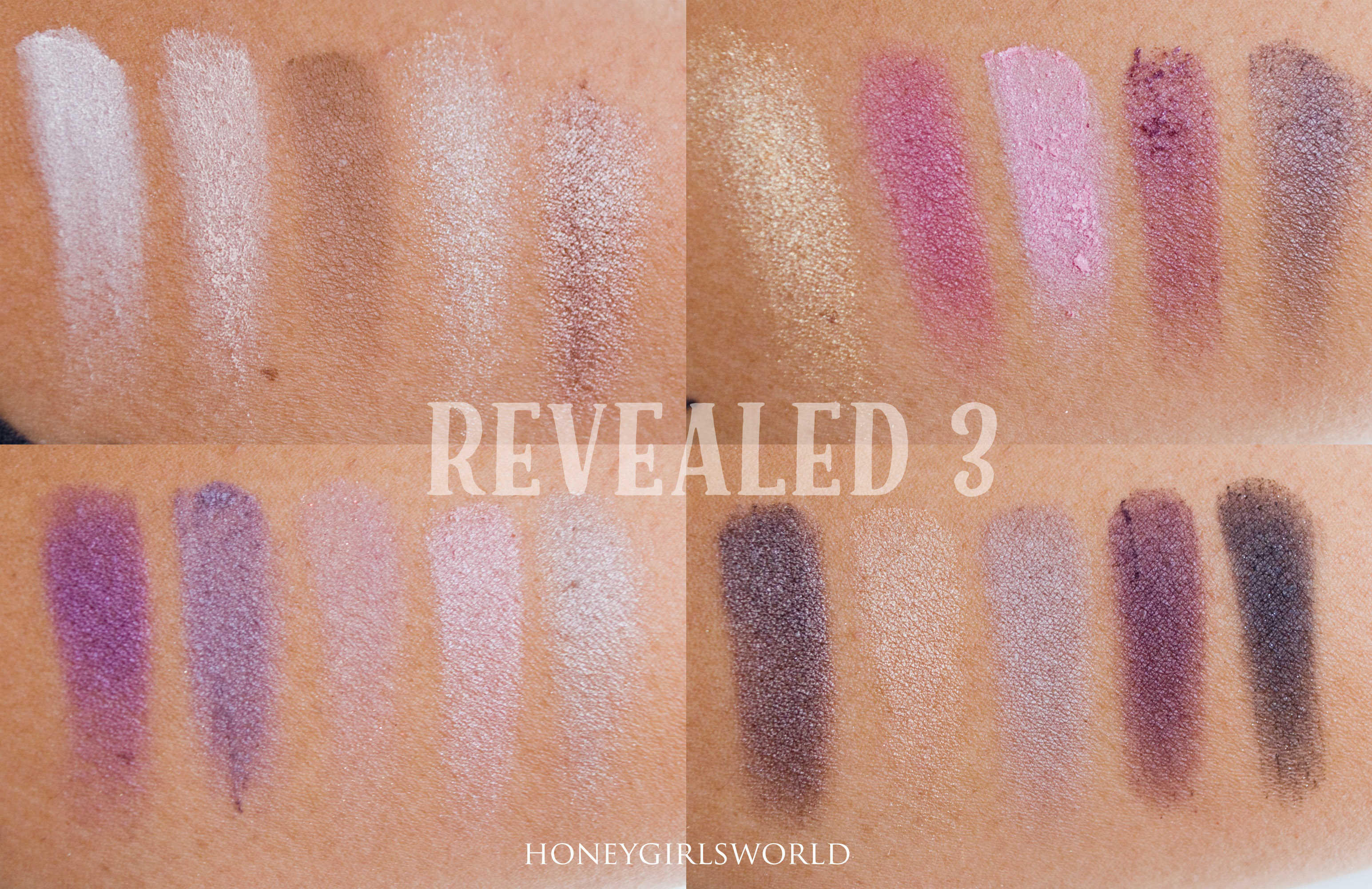 Coastal Scents Revealed 3 Swatches