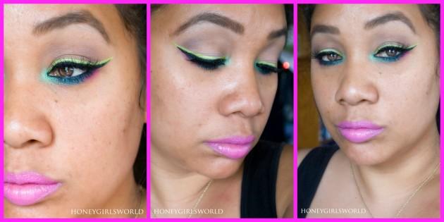Electric Avenue spring makeup look