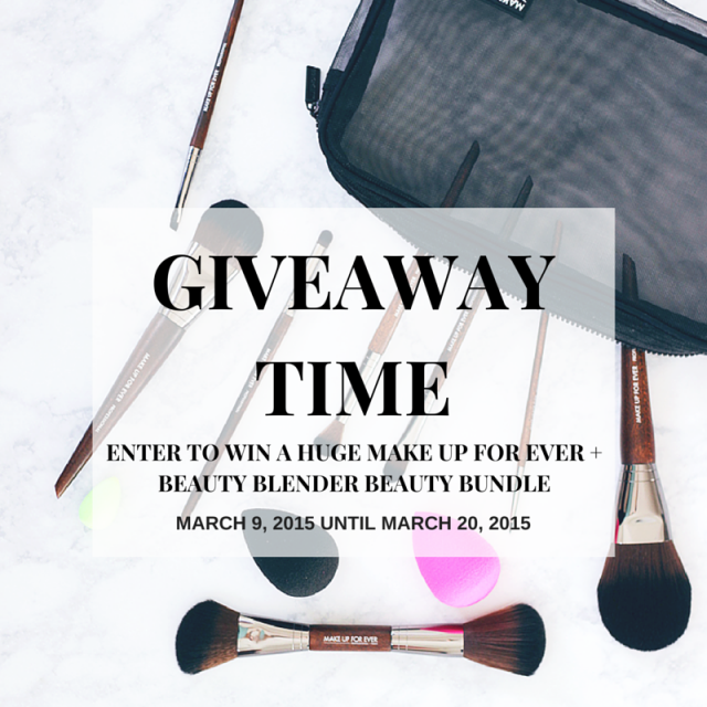 HUGE GIVEAWAY – The Beauty Council Make up For Ever Brushes and Beauty Blender Giveaway