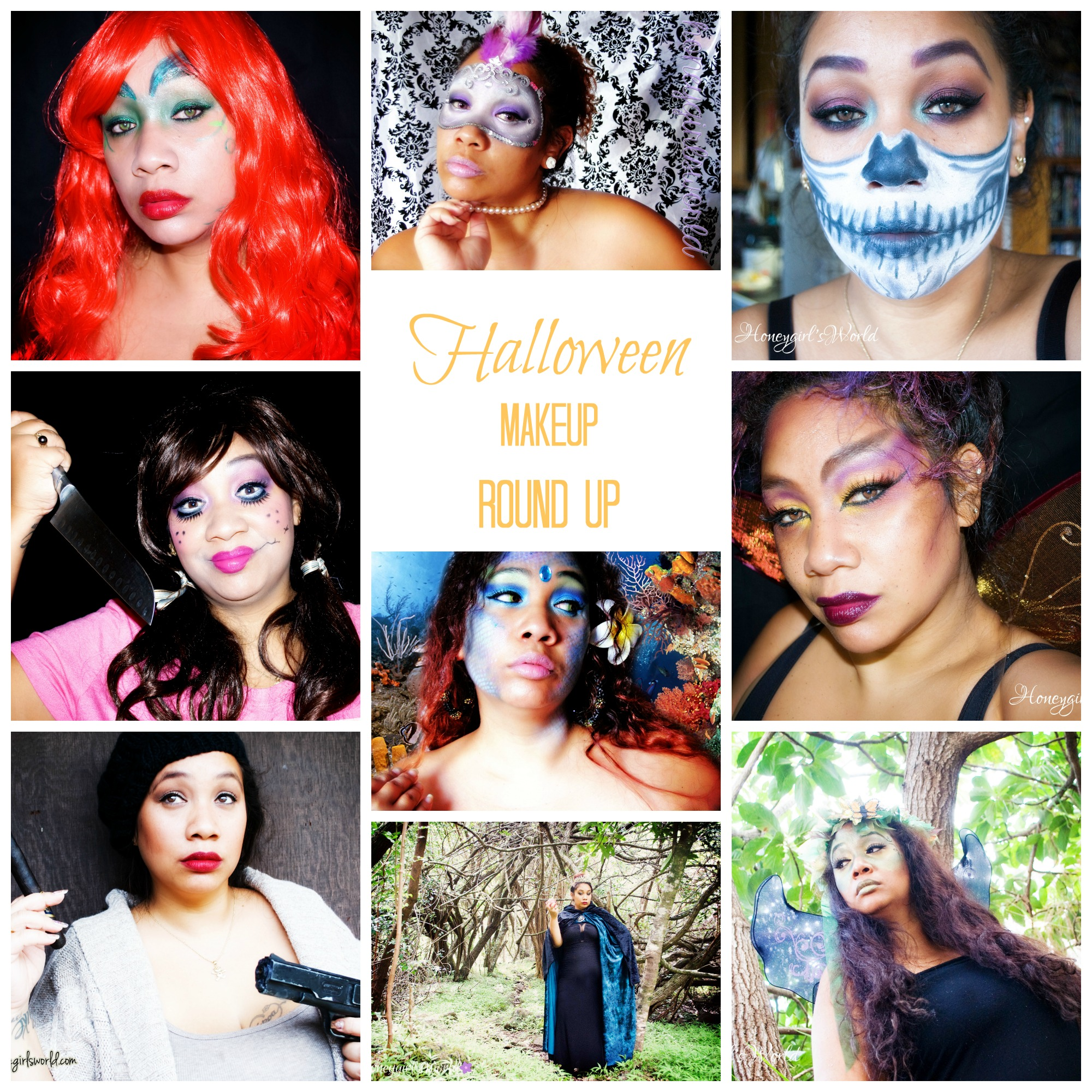 Halloween Makeup – A Round Up of Past Looks I've Created