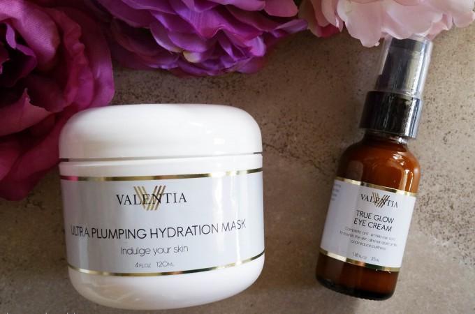 Valentia True Glow Eye Cream and Ultra Plumping Hydration Mask