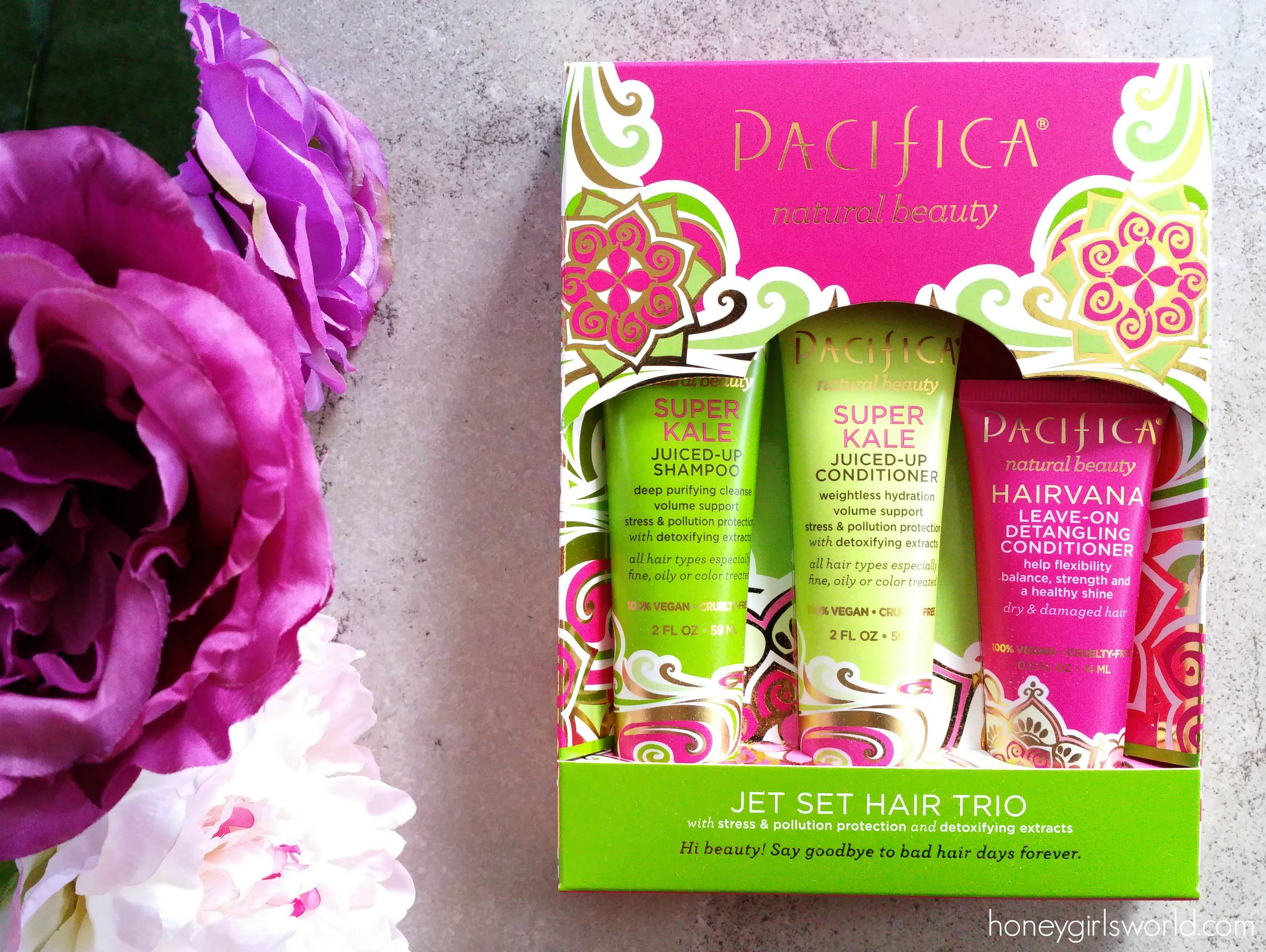 Pacifica Beauty, Pacifica, beauty, hair, hair care, ulta, hair healing collection, pacifica jet set hair trio, hair products, conditioner, shampoo, super kale, beauty products,