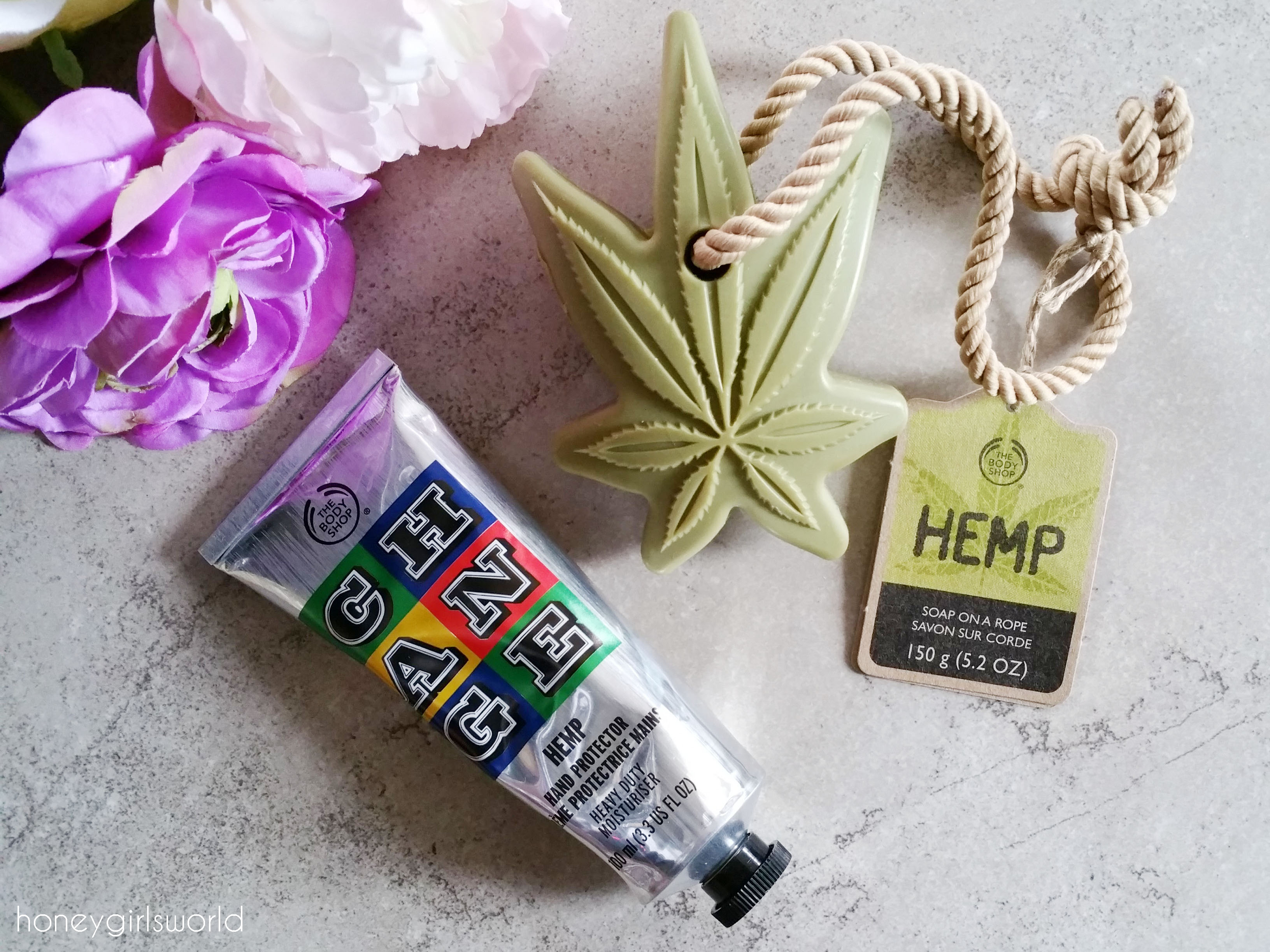 hemp hand protector, the body shop, hemp hand, protector, hand cream, lotion, body care, skin care, hemp products, hemp soap on a rope, beauty, review, enrich not exploit,