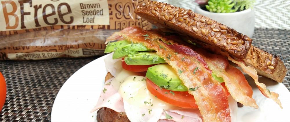 sandwich, turkey avocado sandwich, food, recipe, delicious, bfree foods, free, brown seeded loaf, bread, food porn, bacon, ham sandwich, turkey sandwich,