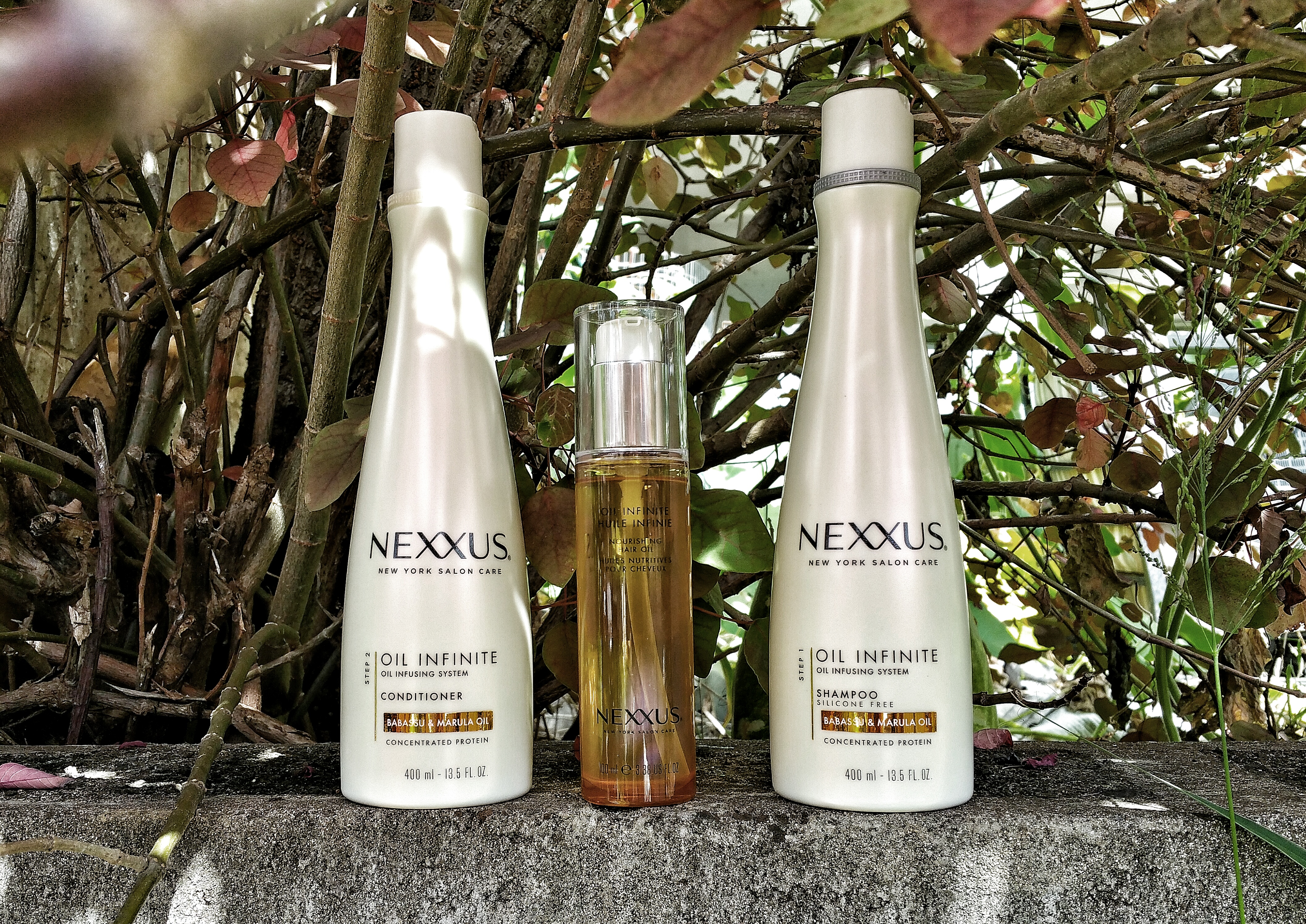 hair, curly hair, hair care, Nexxus, Oil infinite, nexxus oil infinite oil infusing system, shampoo, conditioner, hair oil, babassu, marula oil, hair love,