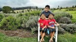day trip, ali'i kula lavender farm, lavender farm, maui, twins, kids, summer break, ootd, plus size ootd, plus size summer outfit, kimono, boys, family fun, trip, hawaii