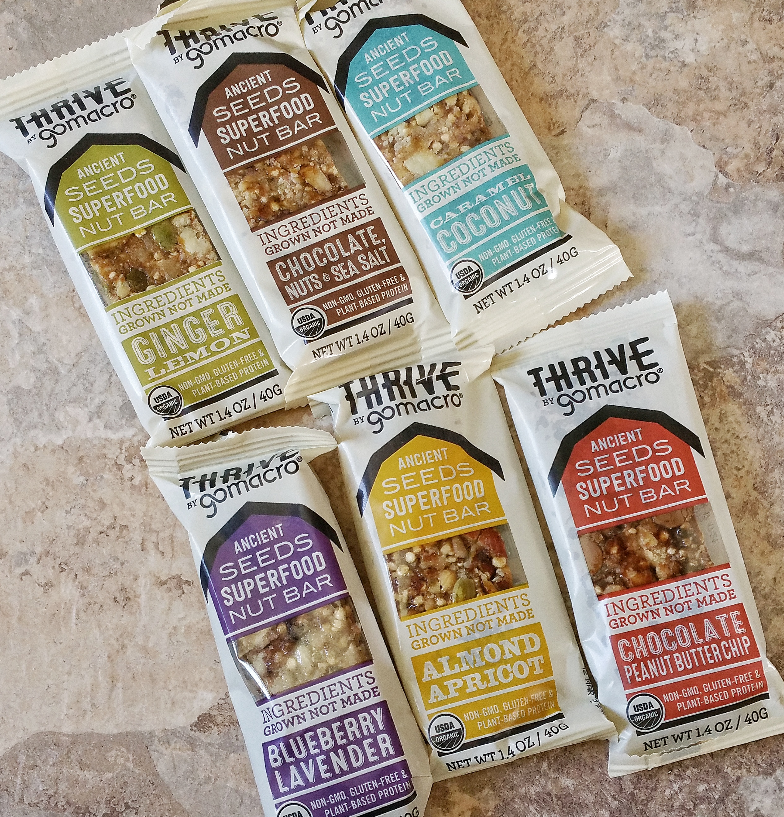 GoMacro, healthy treats, snack bars, food, Thrive by GoMacro, bars, food, superfood nut bar, nut bar, ancient seeds, taste test, treat, snack,