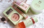 Pixi Beauty, Pixi, cosmetics, makeup, review, product review, beauty review, beauty, pixi nourishing cleansing balm, pixi glow tonic, pixi rose oil blend, pixi beauty blush duo and kabuki in peach honey, peach honey, pixi liplift max, pixi products, cosmetic products, swatches,