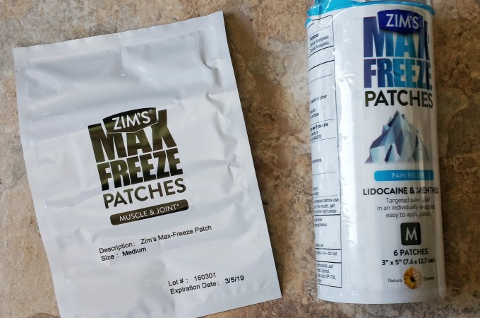 Pain Relief For Winter Aches – Zim's Max-Freeze Patches with Lidocaine and Menthol