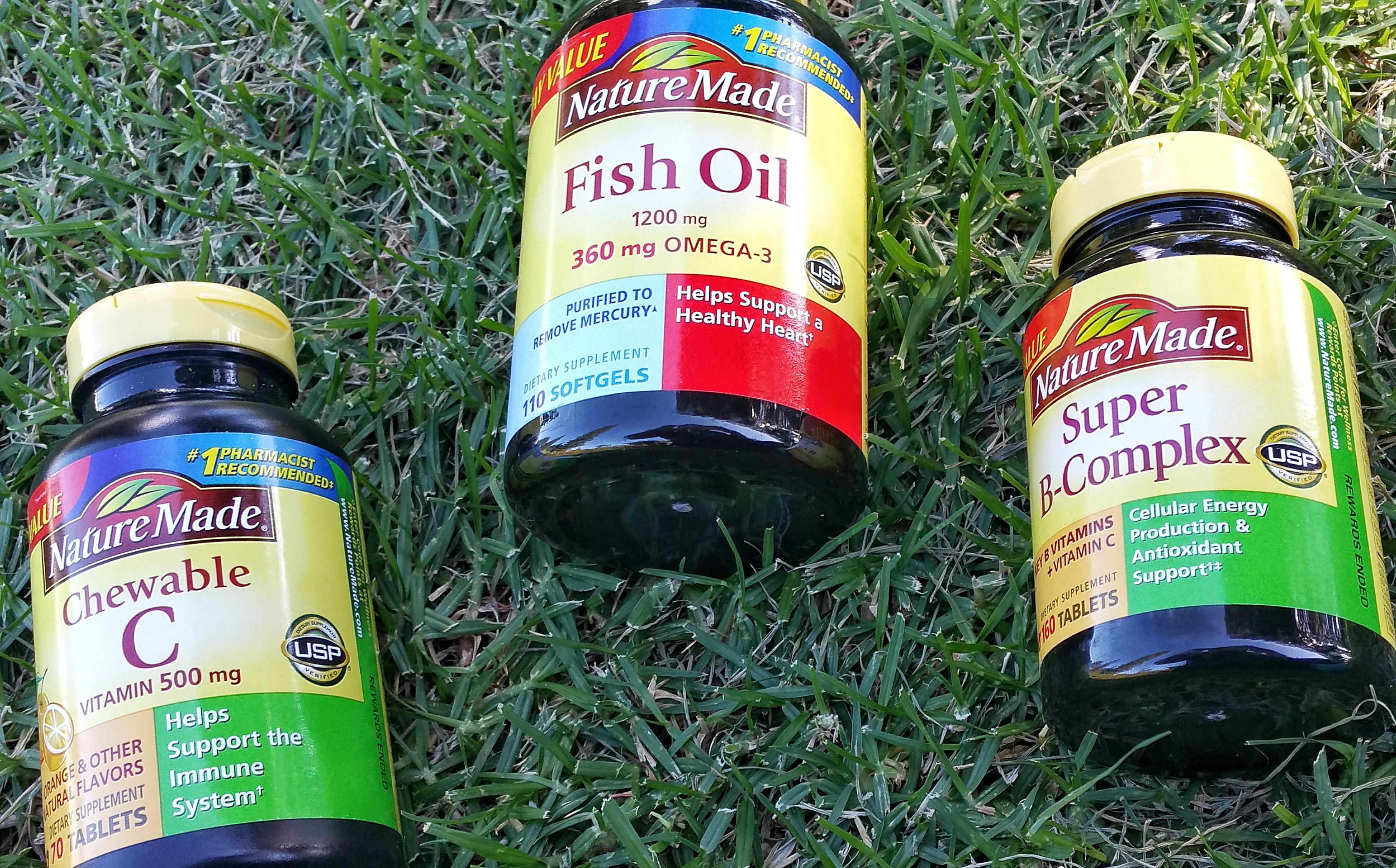 Nature Made, health, wellness, vitamins, Walmart, fish oil vitamins, chewable vitamin c, super b complex, Nature Made at Walmart, review, healthy,
