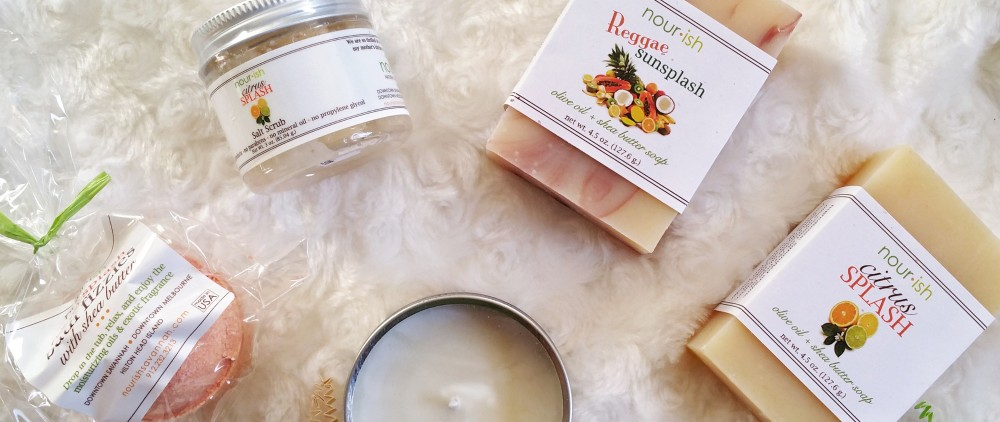 holiday gift guide, holiday gifts, skin care, body care, bath and body, holiday gifts for bath and body, soap, candle, lip balm, bath salts, bath care,