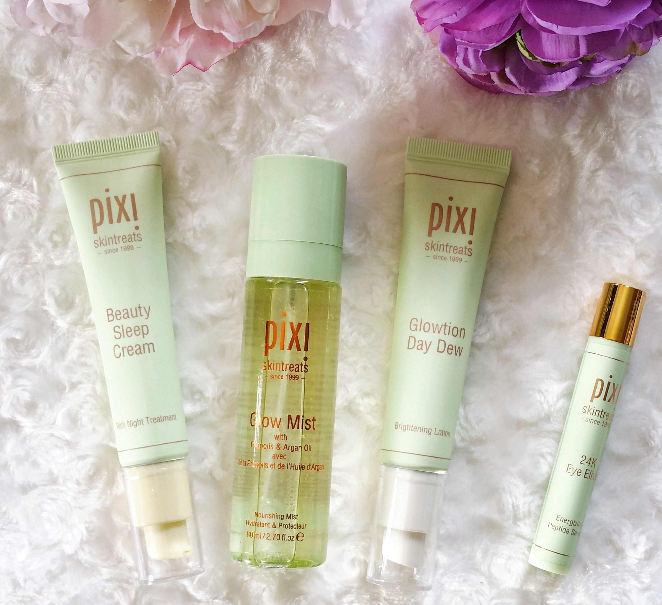 pixi beauty, pixi, skin care, beauty, glowtion day dew, glow mist, beauty sleep cream, 24K eye elixir, pixi beauty skin care, pixi skin care, review, beauty review, #pixiglow, pixi glow,